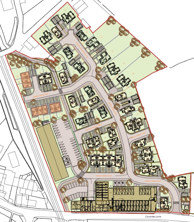 Cononley Site Plan